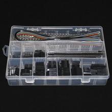 635 pçs/caixa 40pin 2.54mm passo único cabeçalhos do pino da fileira, carcaça do conector fêmea, jogo do conector do pino do macho/fêmea