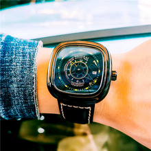 Brand Genuine Business Men #8217 s Watches Square Watches Men #8217 s Mechanical Watches Automatic Waterproof Leather Men #8217 s Watches cheap Fashion Casual Digital Tungsten Steel 5Bar CN(Origin) Bracelet Clasp Calendar luminous tourbillon Square