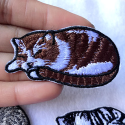 Cute Cats Patches Clothing Applications Embroidered Stripes Badges Iron on Appliques Cartoon Animals Stickers for Clothes