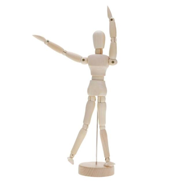 Wooden Artist Movable Limbs Male Wooden Toy Figure Model Mannequin bjd Art Sketch Draw Action Toy Figures 5