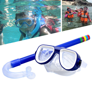 Professional Scuba Diving Mask and Snorkels Goggles Anti-Fog Goggle Mask Glasses Diving Swimming Easy Breath Tube Set Kids Child