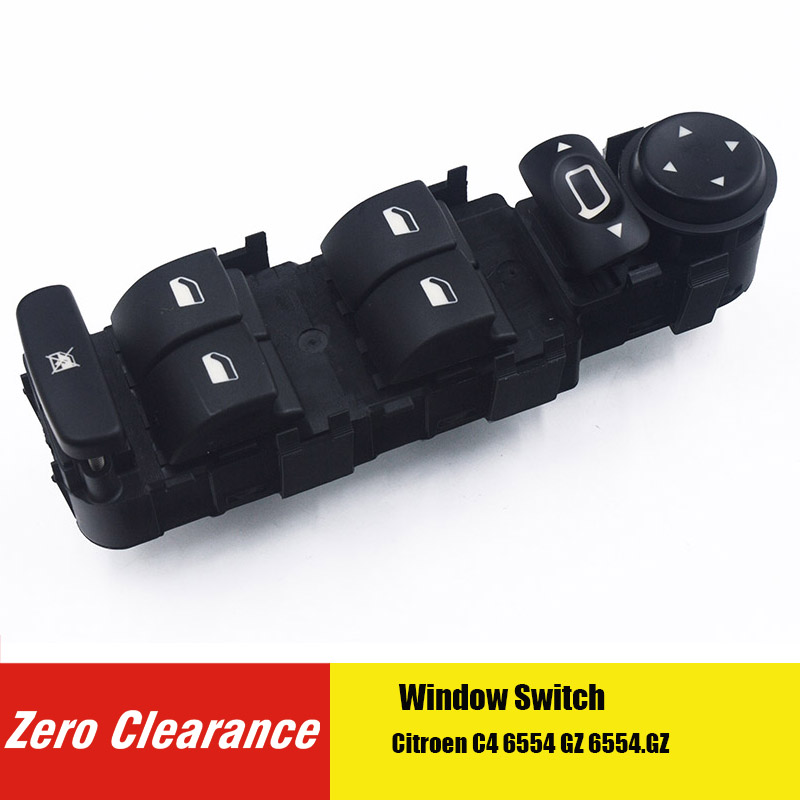 Zero Clearance New 6554.HA 6554HA 6554 HA Peugeot Electric Power Window Master Lifter Control Switch Pu Button Panel For C4 GZ