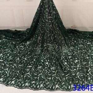Фатиновая кружевная ткань для платьев новейшая нигерийская французская фатиновая кружевная ткань с блестками высокого качества африканск...