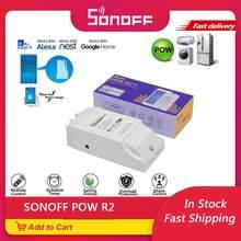 SONOFF – interrupteur Wifi POW R2 15a 3500W, contrôleur de consommation d'énergie en temps réel, moniteur de mesure pour domotique intelligente