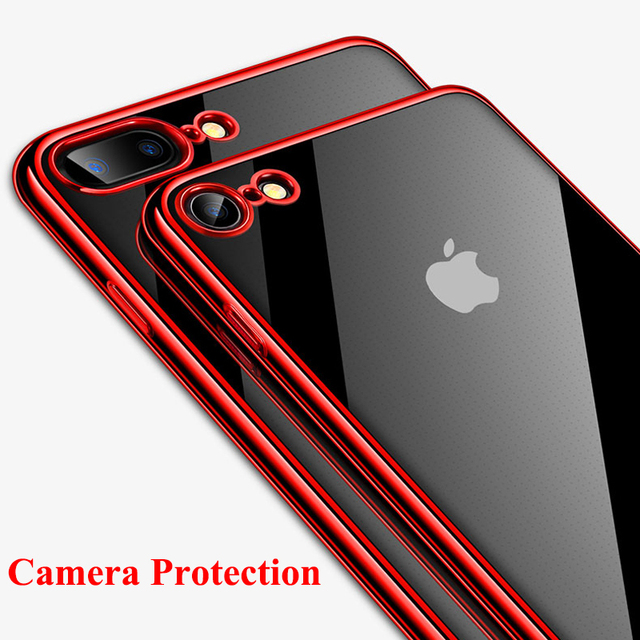 De luxe En Silicone Téléphone étui pour iPhone 7 8 Plus 6 6 s Brillant Placage Doux étui en polyuréthane thermoplastique Pour iPhone 6 6 s Plus 7 8 X XS Max XR