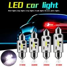 $ 2.34 31MM/36MM/39MM/41MM Durable Car LED 12V6W Interior Glass Lens Festoon Dome Reading Light for Cars Led Roof Lamps Trunk Lamp