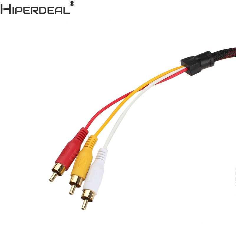 هيبيرديل HDMI جودة عالية إلى 3 RCA 1.5 متر كابل ذكر محول محول كابل ل HDTV Oct30 HW
