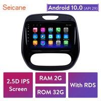 Seicane Android 2DIN Car Head Unit Radio Audio GPS Multimedia Player For Renault Captur CLIO Samsung QM3 Manual A/C 2011 2016