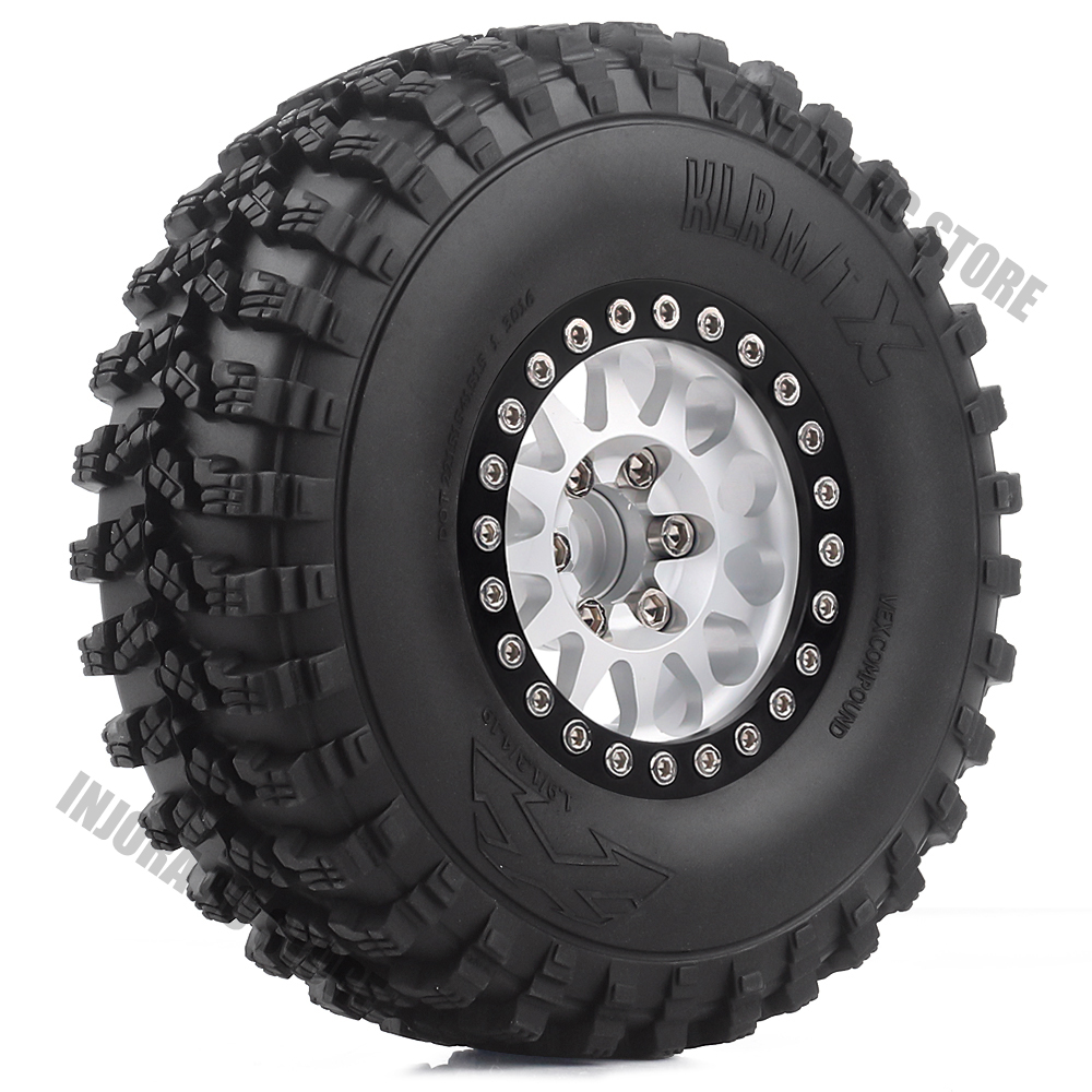 4Pcs RC Car Terrain Truck Tires&Wheel Rim 1.9inch For 1:10 RC Crawler Axial SCX10 90046 Voodoo KLR TRX4 D90