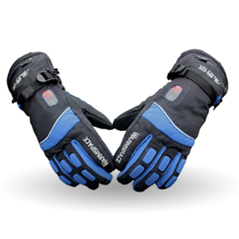 Warmspace 7.4V 4000MAH Electric Rechargeable Heat Gloves Ski Lithium Battery Winter Warm Gloves Heated For Skiing Cycling Riding