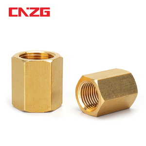 Brass Pipe Fitting Copper Hose Hex Coupling Coupler Fast Connetor Female Thread 1/8