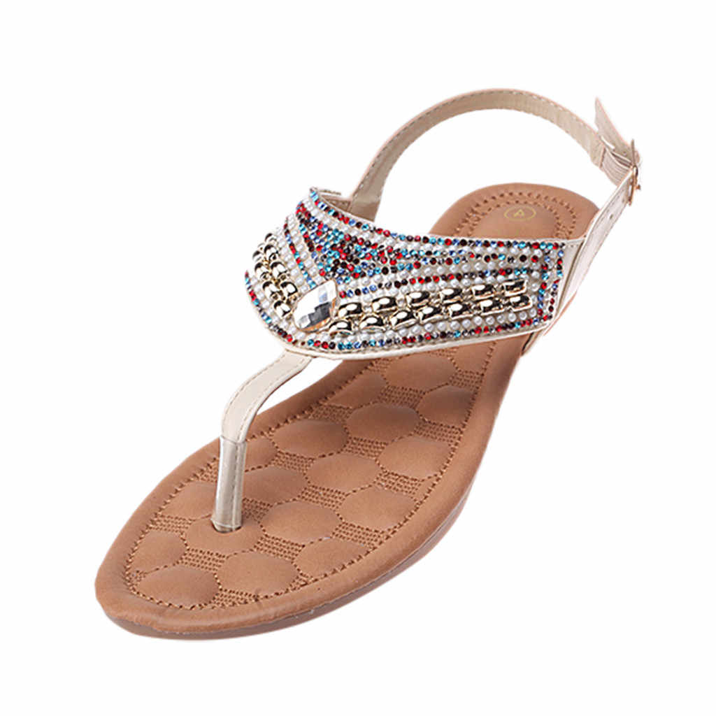 Womens Wohnungen Offene spitze Atmungs Flip-Flops Böhmischen Strand Schuhe Römischen Sandalen zapatos de mujer tacon bajo #0125G10