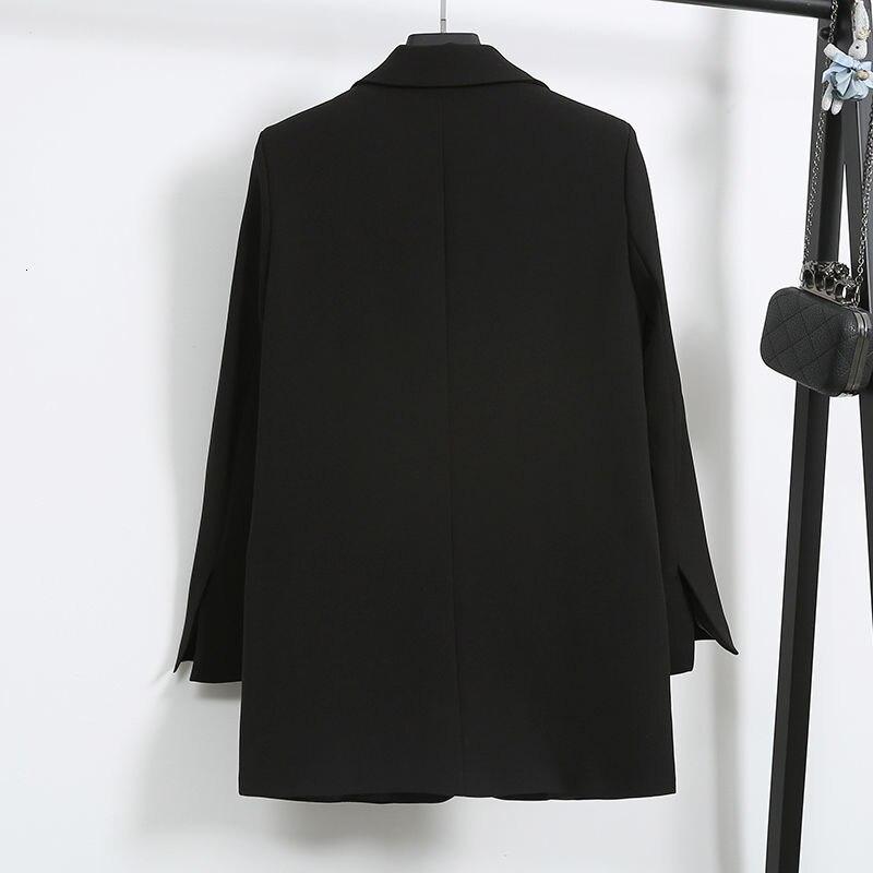 Elegant Black Single Button Women Blazer Jacket 3