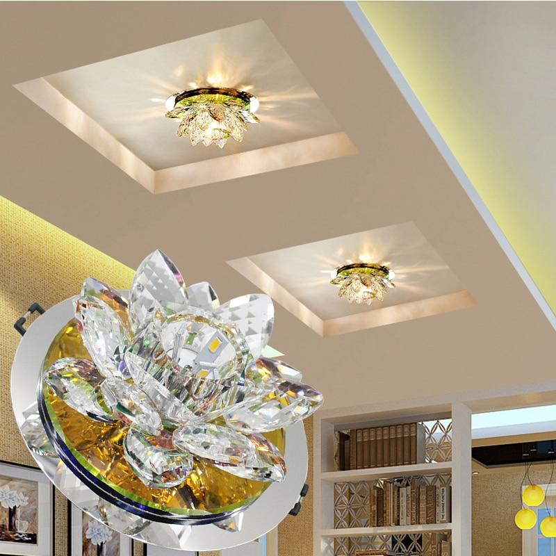 Modern LED ceiling Lights home lighting led crystal ceiling light ceiling lamps for living room lustre crystal dimming lamp