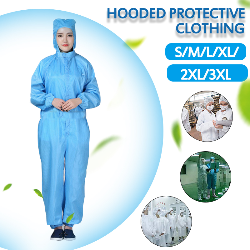 Hood Cleanroom Garments Clean Food Dust-proof Paint Work Clothing Anti-static Coveralls Clean Clothes Unisex Protective Overalls