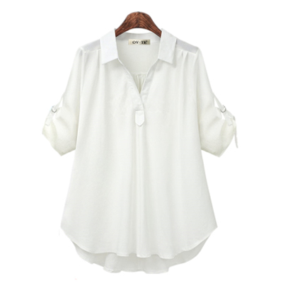 womens tops and blouses white blouse office shirt blusas mujer de moda 2020 long sleeve women shirts clothes chemise femme 4XL 8