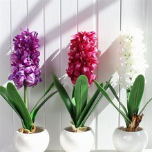 1PC artificial flower hyacinth with light bulb wedding home garden decoration silicone table accessories