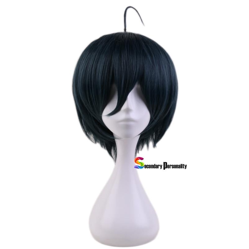 Anime Danganronpa V3: Killing Harmony Saihara Shuichi Short Wig Cosplay Costume Dangan Ronpa Heat Resistant Hair Men Wigs