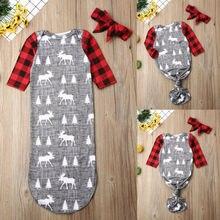 CANIS; сезон осень-весна; Рождественская длинная пеленка с рукавами для новорожденных; Пеленальное Одеяло; спальный мешок; комплект одежды