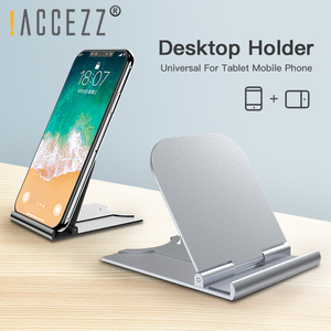 !ACCEZZ Mobile Phone Holder Stand For iPhone 11 Pro 8 XR Universal Desktop Holder For ipad Tablet 180 Degree Adjustable Bracket(China)