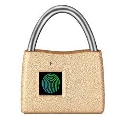 Keyless biometryczna kłódka na odcisk palca  kłódka do bagażu  zamek podróżny nadaje się do szkoły  siłowni  szafki  walizka bagażowa  szuflada  kabina -