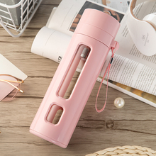 Tea Bottle Glass Insulated Brief Leak Proof Portable With Tea Infuser