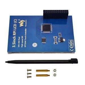 Image 5 - Ahududu Pi 4 Model B/3B +/3B 3.5 inç dokunmatik ekran TFT LCD için tasarlanmış, 125MHz yüksek hızlı SPIi, 480x320PX, XPT204
