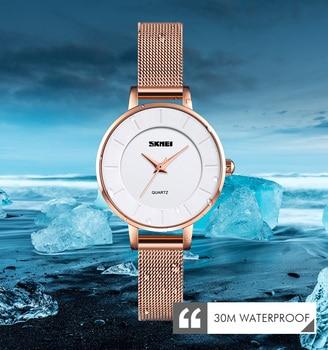 Fashionable simple watch ladies top brand luxury waterproof 30 meters ladies watch 0Q021