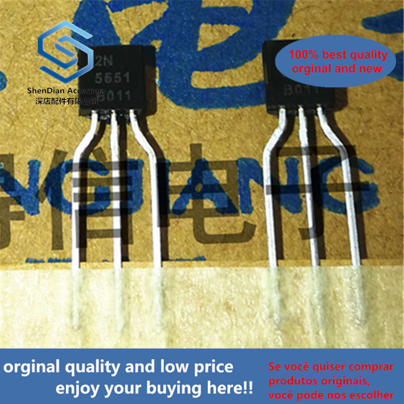 50pcs 100% Orginal New 2N5551 5551 Copper Foot Triode TO-92 Real Photo