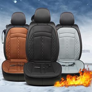 Car Seat Heating Cushion Automobiles Seat Covers 12V Car Seat Heated Seat Pad Heating Pad Heating Mats Non-Slip Knitting Fiber