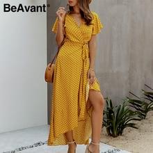 Женское винтажное платье в горошек, с высокой талией и воланомПлатья    АлиЭкспресс