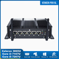 Intel i5 7267u 6 lan industrial mini pc core i3 7167u 2957u 3865u firewall computador 2 rs232 com 4g wifi pfsense windows 10 pro