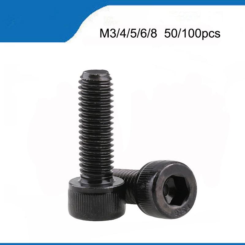 Titanium bolts m5 x 8-50 tapered din 912 Grade 5 black