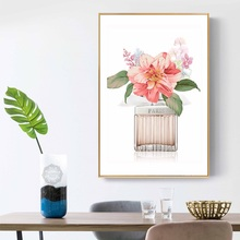 Perfume Rose Peony Flower Wall Art Canvas Painting Nordic Posters And Prints Watercolor Pictures For Living Room Decor