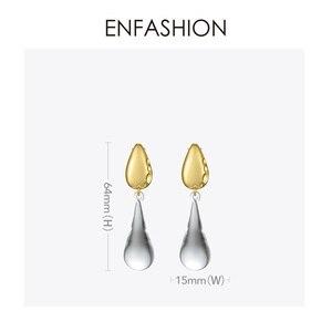 Image 4 - ENFASHIONหยดน้ำคริสตัลDropต่างหูสำหรับผู้หญิงสีทองยาวDangleต่างหูแฟชั่นเครื่องประดับDropshipping E191145