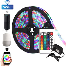 Беспроводной RGB светодиодные ленты 2835 SMD водонепроницаемые гибкие неоновые ленты Тирас из светодиодов лампы ленты диод контроллер Bluetooth 12В 5М 10М 15М