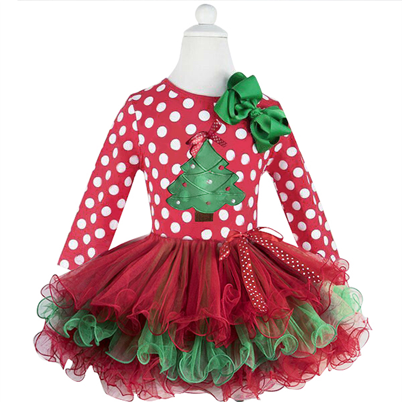 H79848c65aee841198fcfb3fa7e7d0dcc0 2-6T Santa Claus Christmas Dress Kids Party New Year Costume Winter Snowman Baby Girl Clothes Christmas Tree Children Clothing