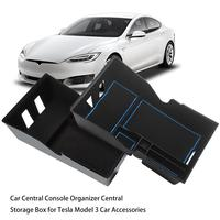 Car Central Boxes Console Organizer Central Storage Box For Tesla Model 3 Car Accessories Storage Case