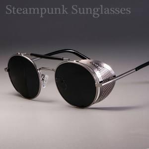 Women Fashion Gothic Steampunk Sun Glasses Brand Designer Vintage Round Women Men Steam Punk Sunglasses Oculos Round Eyeglases