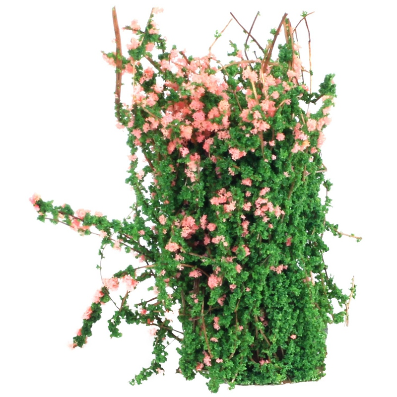 Sand Table Decorative Shrub Thicket Spend Plant Flower Garland Decor Fairy DIY Decoration Pink