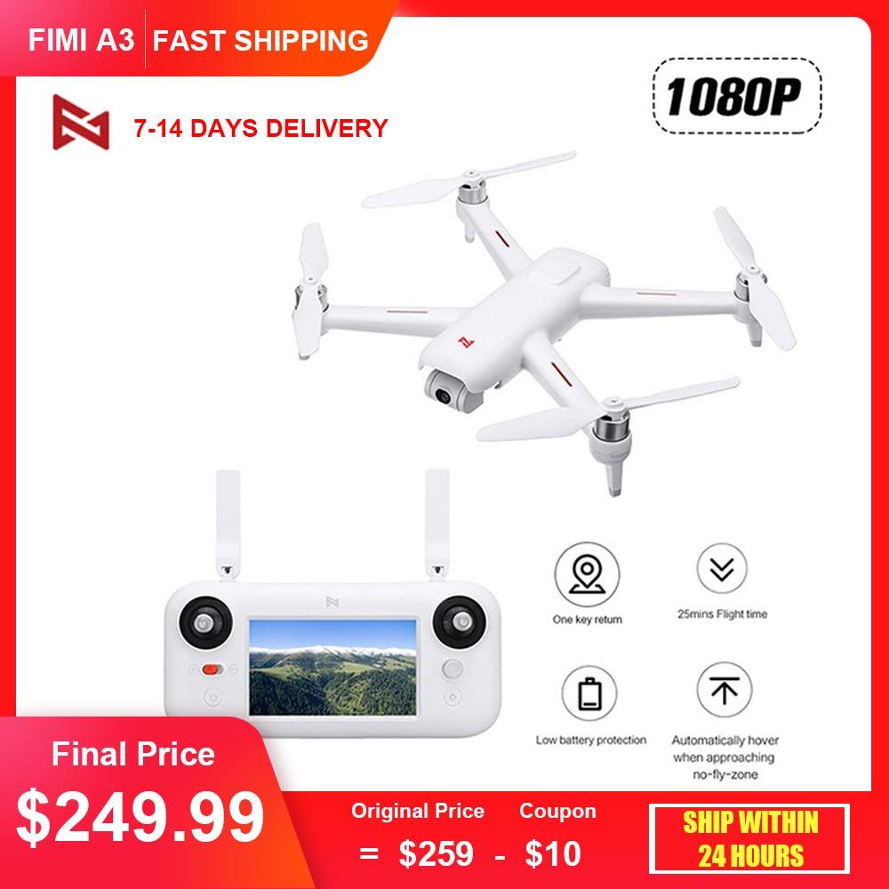 Original FIMI A3 Camera Drone 1080P 5.8G GPS Drone 1KM FPV 25Mins 2axis Gimbal RC Quadcopter Airplane Drone Camera