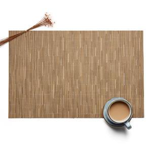 4 Pçs/set estilo Simples De Plástico De Bambu Placemats para Corredor Da Tabela de Jantar PVC Esteira Esteira de Lugar em Acessórios de Cozinha Copo de Vinho