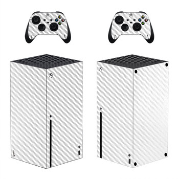 Carbon Fiber Gold Skin Sticker Decal Cover for Xbox Series X Console and 2 Controllers Xbox Series X Skin Sticker Vinyl 2