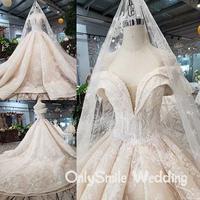 Vestido De Noiva Long Sleeves Bridal Gown Lace Beaded Vintage Wedding Dresses Robe De Mariee Luxury Ball Arabic Wedding Dress