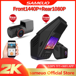 SAMEUO car dvr usb camera for android triple dash cam dual hd 1080p front and rear video recorder wifi 1080P 24H Parking Monitor