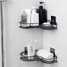 Треугольная настенная угловая стойка для ванной, кухни, душевой шкаф, полка, органайзер, пробивной держатель