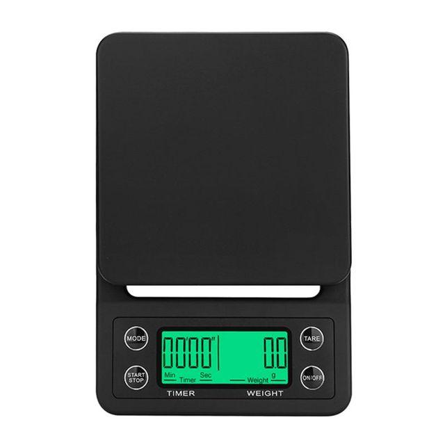 3kg 5kg waga do kawy z zegarem elektroniczna cyfrowa kuchenna skala wysoka precyzja 0 1g LCD wagi U4LB tanie i dobre opinie OOTDTY NONE CN (pochodzenie) Waga ławki 2 x AAA battery (Not included) 13x19 5cm 5 12x7 68inch Kitchen Scale 5 kg LCD Digital display