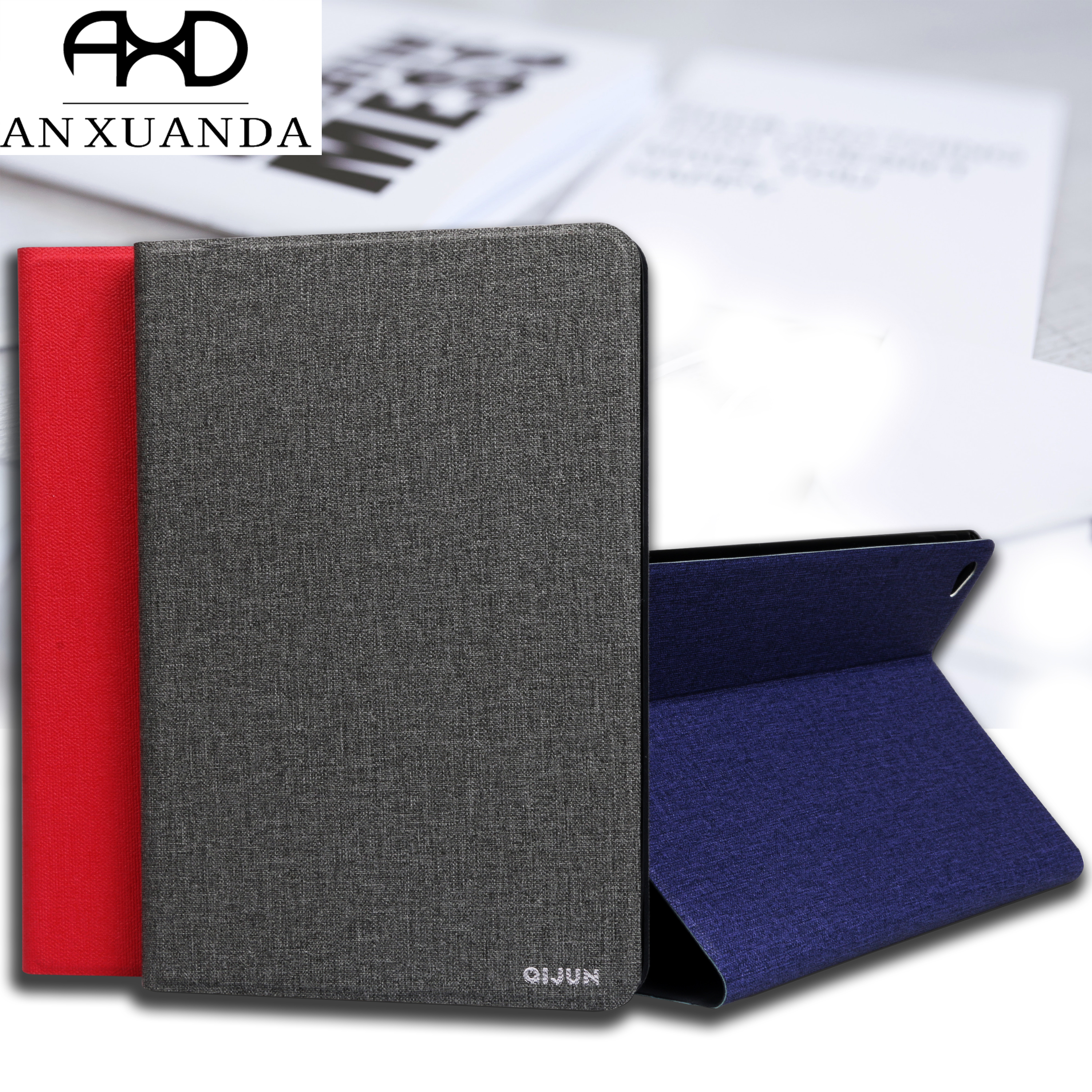 For Samsung Galaxy Tab A 10.5 Inch (2018) T590 QIJUN Case For Galaxy T590 T595 T597 Case Slim Flip Cover Soft Protective Shell
