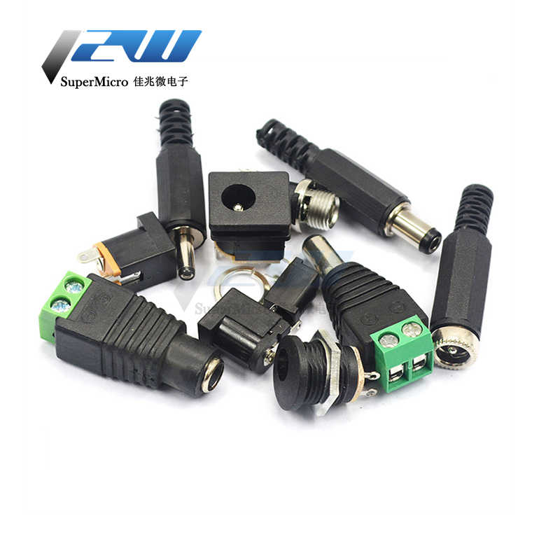 Plug Adapter Dc Power Jack Connector Edge 5.5*2.1 Mm 5.5*2.5 Mm DC-005 DC-002 DC-012 DC-022 DC-022B DC-025 DC-050