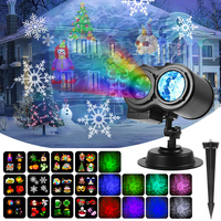 LED Laser Projector Lamps Disco Light Garden Halloween Christmas Decorations For Home New Year Party Lights 12 Patterns Outdoor
